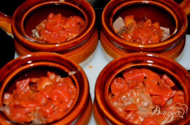 Фото приготовление рецепта: Говядина тушеная в горшочках шаг №2