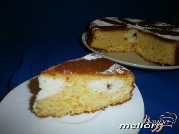 Рецепт Апельсиновый пирог с творогом и шоколадом