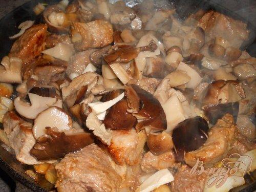 Говядина с белыми грибами