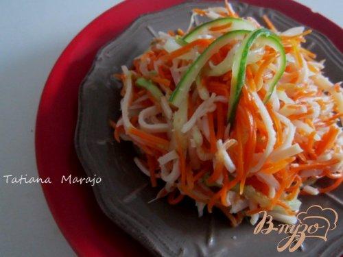 Морковный салат с куриной нарезкой