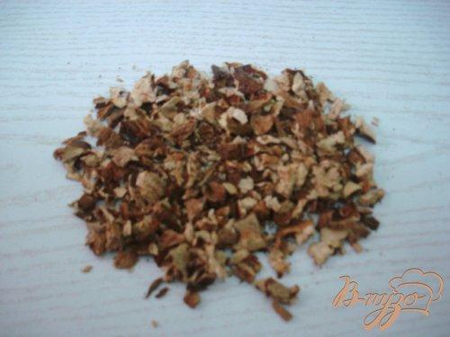Ячневая каша с сухими белыми грибами