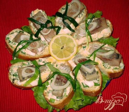 Бутерброд из сельди