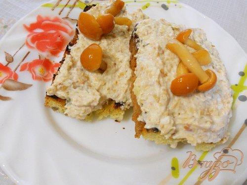 Сырно - грибной паштет
