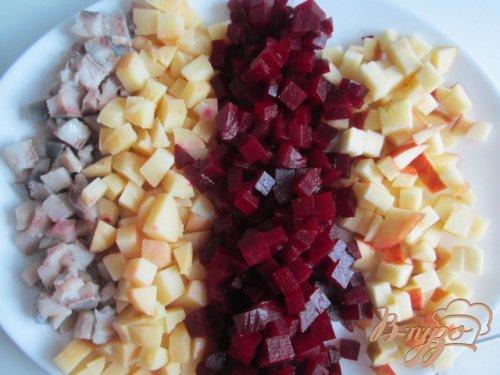 Салат из свеклы с сельдью