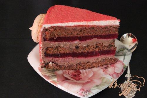 Шоколадно-брусничный торт.