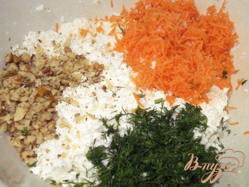 Творожные крокеты на овощном салате