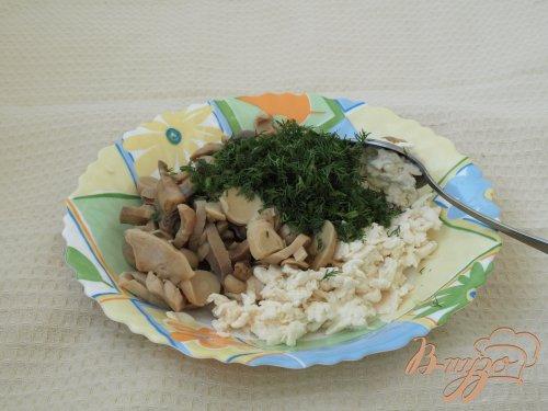 Быстрая закуска из резанных шампиньонов