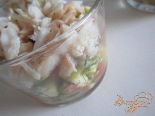 Разгрузочный салатик с рыбой