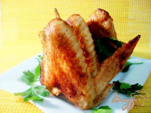 Куриные крылышки в лимонном маринаде.
