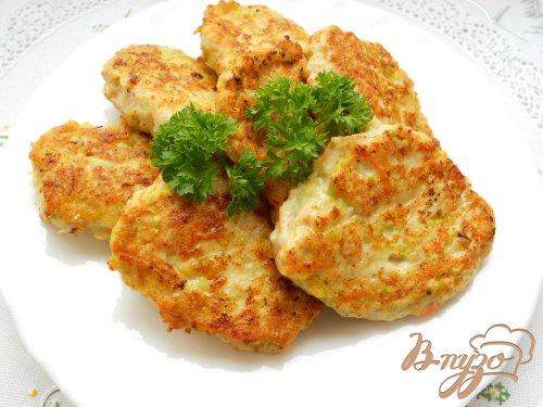 Оладьи из курицы и овощей
