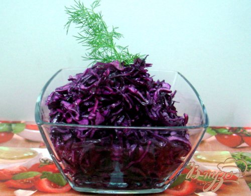 Салат из краснокочанной купусты