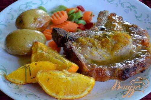 Свиные отбивные в медовой и апельсиновой глазури