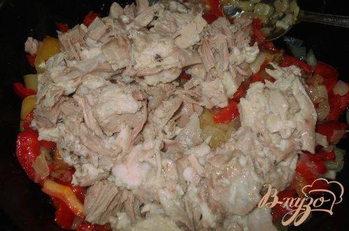 Макароны с отварным мясом