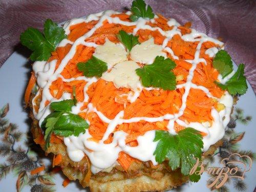 Тортик из капустных блинчиков
