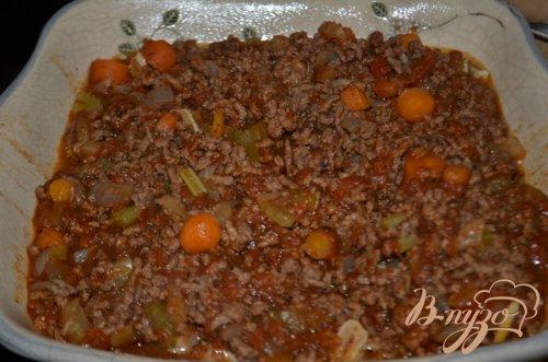 Паста с говяжим фаршем по-гречески