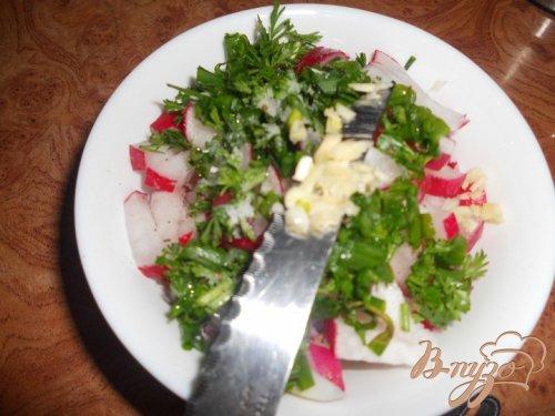 Салат редисовый