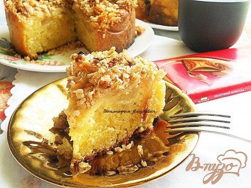 Яблочный кекс с корочкой