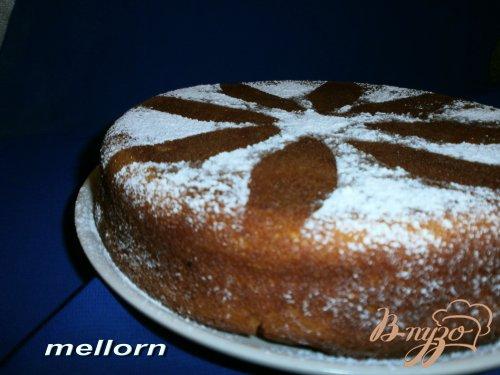 Апельсиновый пирог с творогом и шоколадом