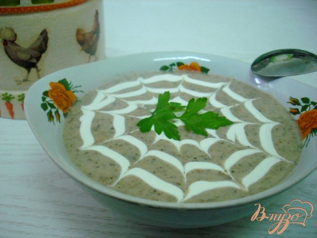 фото рецепта: Грибной суп пюре на сковороде