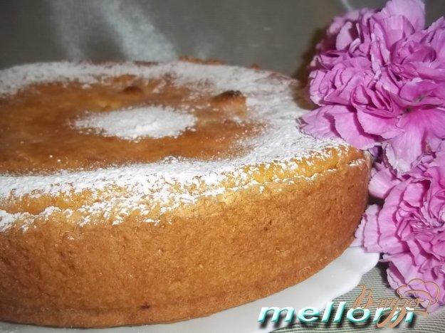 Рецепт Ароматный творожный пирог с яблоками