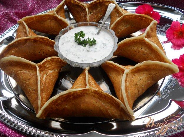 Рецепт Арабские блины Катаеф с грибами и сыром