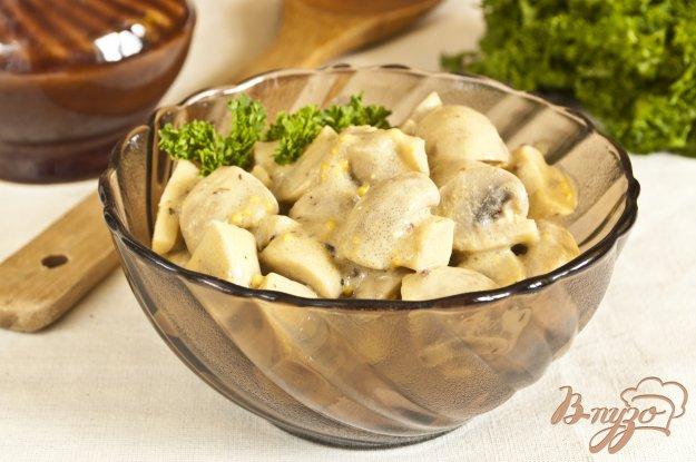 Рецепт Шампиньоны в горчичном соусе