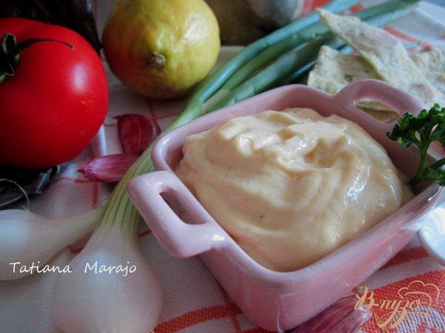 Фото приготовление рецепта: Домашний майонез с хреном шаг №6