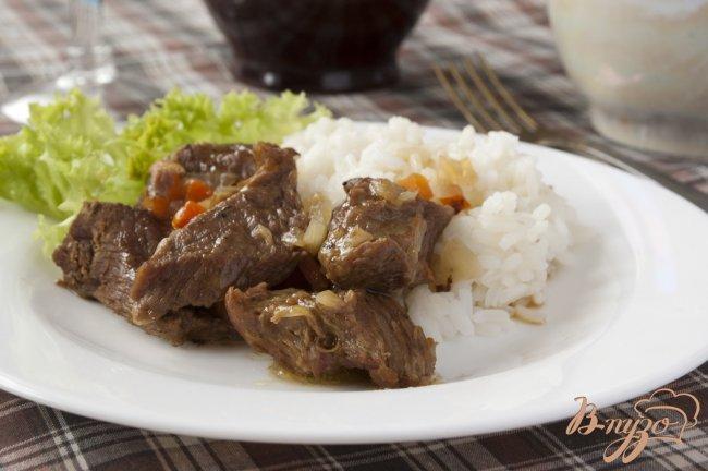 Фото приготовление рецепта: Мясо тушеное шаг №10