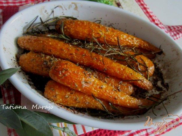 Рецепт Запеченая морковь с ароматными травами