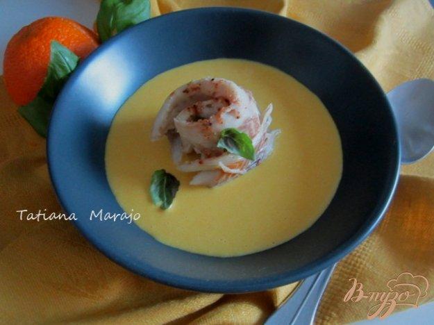 фото рецепта: Рыбные улитки со сливочно-апельсиновым соусом