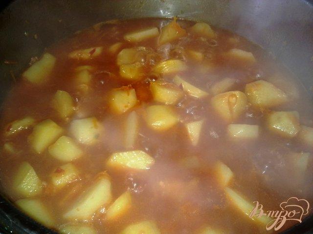 Фото приготовление рецепта: Овощное жаркое шаг №10