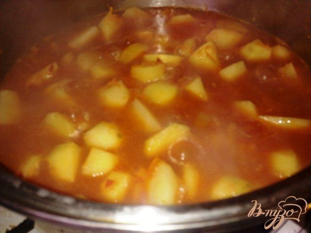 Фото приготовление рецепта: Овощное жаркое шаг №11