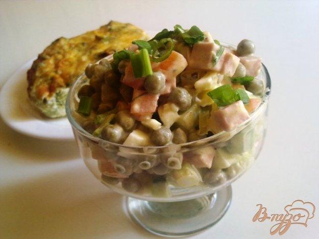 Рецепт Салат овощной с колбасой
