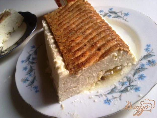 Рецепт Творожный пирог с персиками