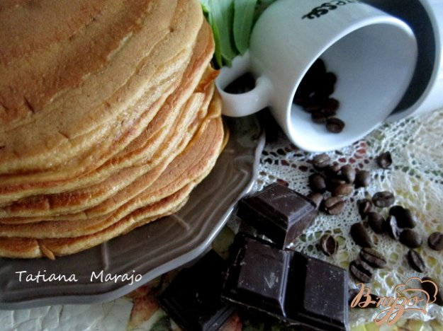 Рецепт Кофейные оладьи с шоколадом