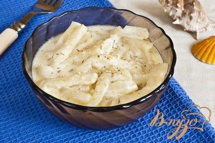 Рецепт Кальмар в сметанном соусе