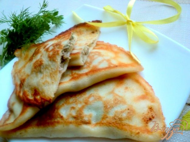 Рецепт Блины с припеком или фальшивые чебуреки