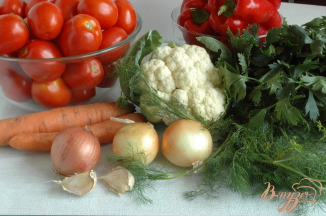 Фото приготовление рецепта: Овощи маринованные шаг №1
