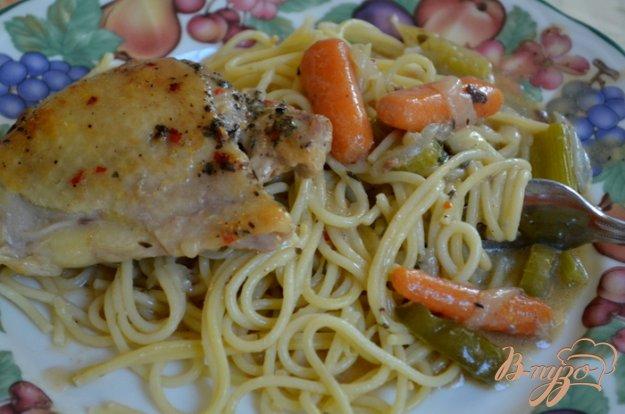 Рецепт Куриные бедрышки в пакете с овощами