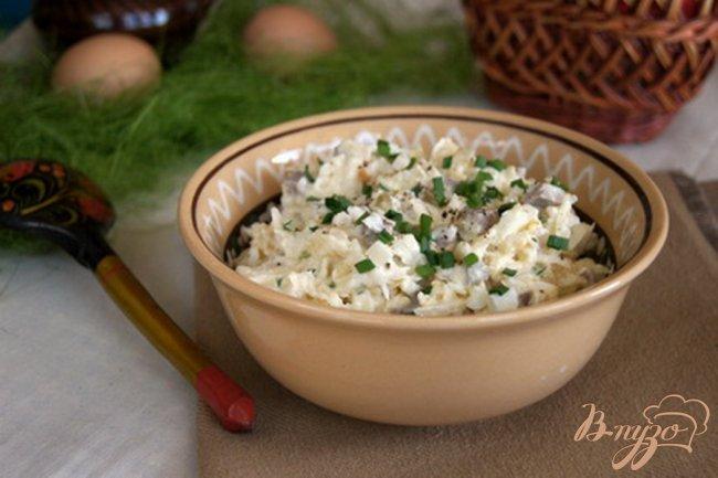 Фото приготовление рецепта: Салат с мясом и редькой шаг №9