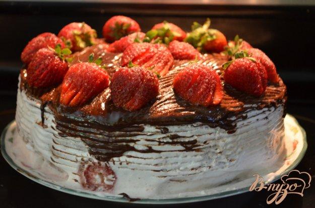 Рецепт Клубничный маршмэллоу торт