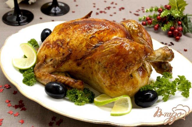 Фото приготовление рецепта: Курица запеченная, маринованная в лаймовом соке шаг №7