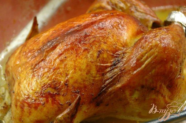Фото приготовление рецепта: Курица запеченная, маринованная в лаймовом соке шаг №6