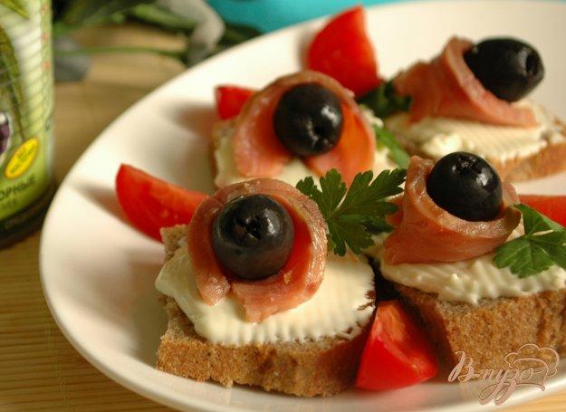 Рецепт Канапе с маслинками