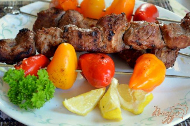 Фото приготовление рецепта: Свиной  кебаб со сладким перцем шаг №5