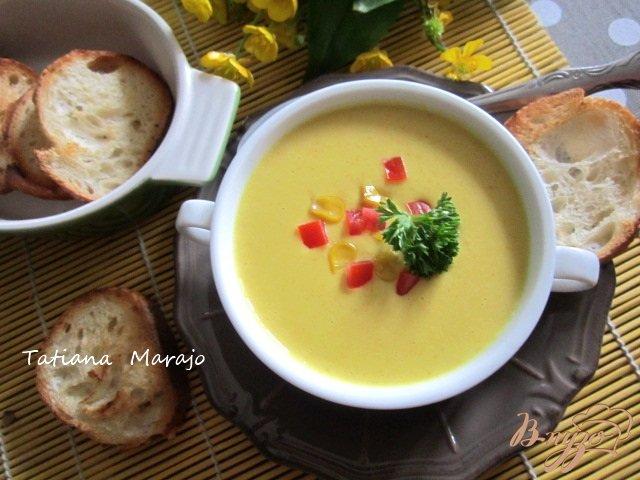Фото приготовление рецепта: Кукурузный  крем-суп шаг №6