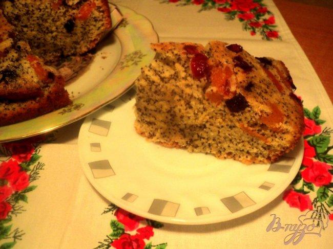 Фото приготовление рецепта: Кукурузный пирог с маком шаг №8
