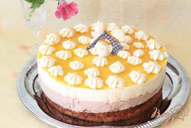 Рецепт мангово-банановый торт-мусс