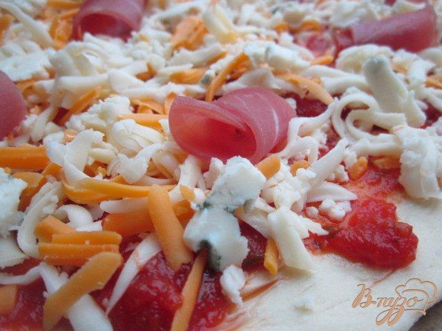 Фото приготовление рецепта: Сырная пицца шаг №5