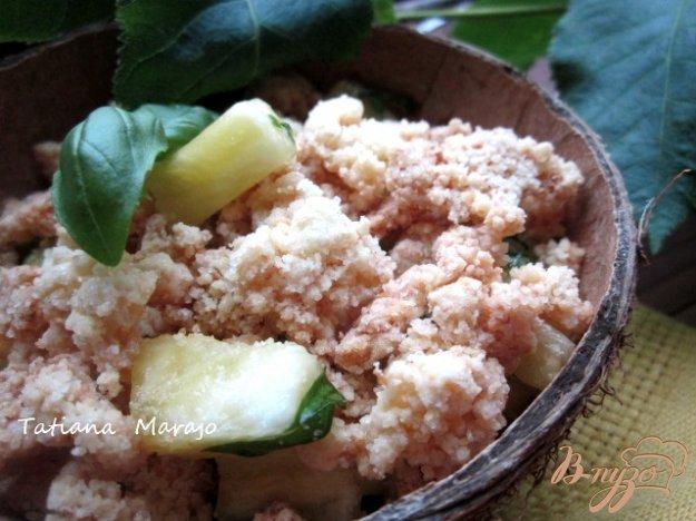 Рецепт Ананасовый десерт с базиликом